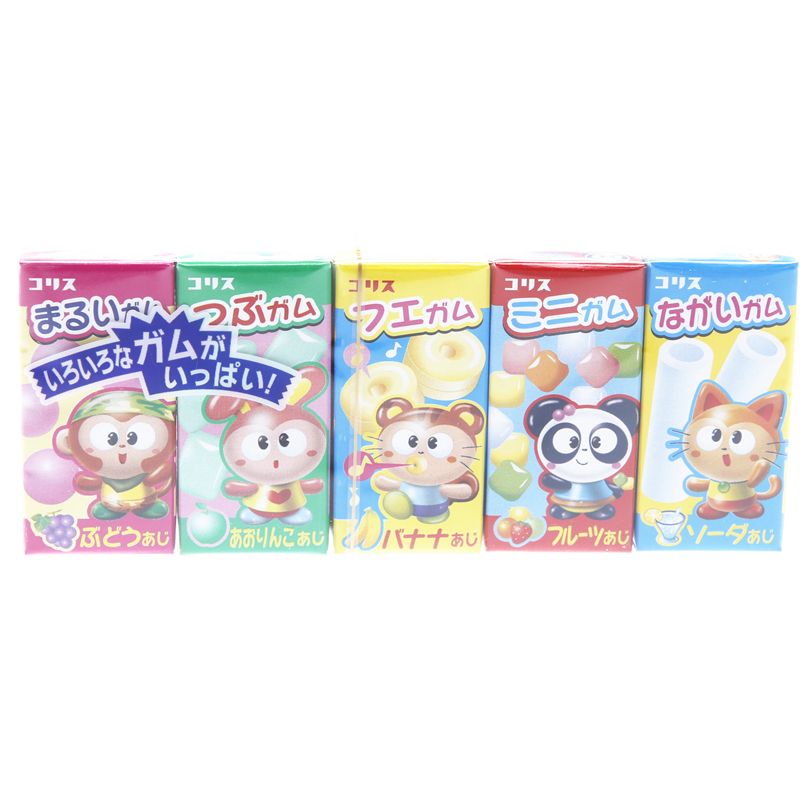Imported from japan may lisburn assorted fruit flavored chewing gum 38g (five boxes) very q lovely baby zero Food