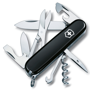 Imported swiss army knife 91mm climbers 1.3703.3 victorinox black counter genuine