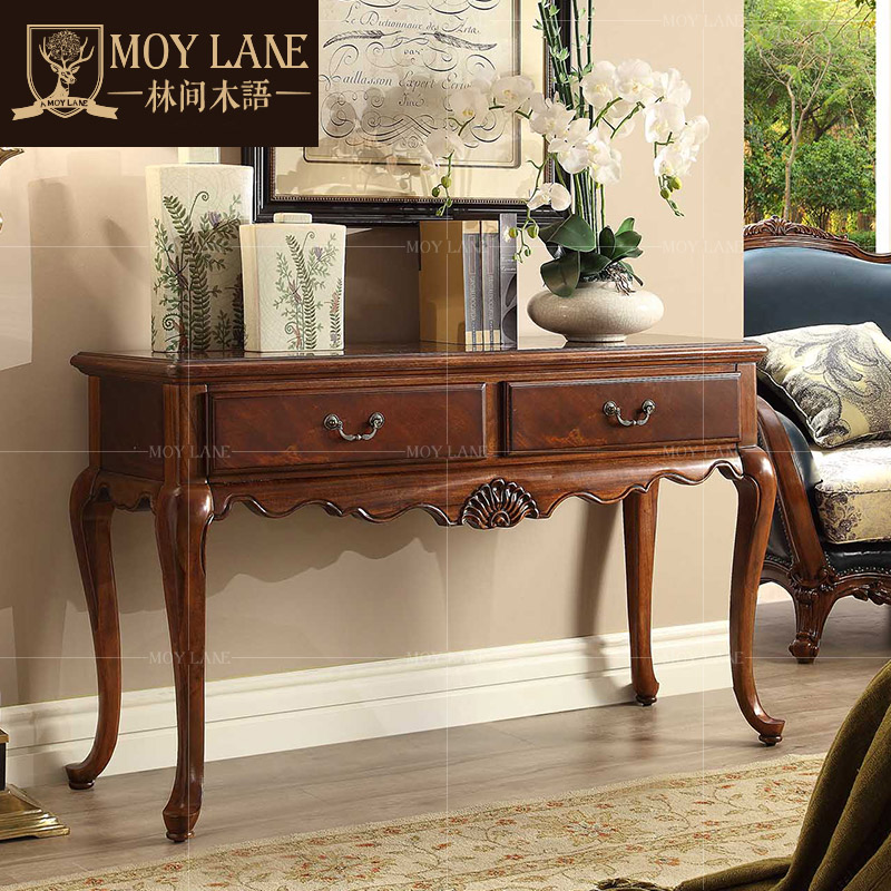 In forest wood furniture american wood console table vestibule door glove side table storage table decoration station hm