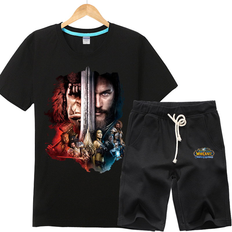 In order to tribal alliance world of warcraft surrounding the movie t-shirt men clothes wow professional fight gown big yards short sleeve suit