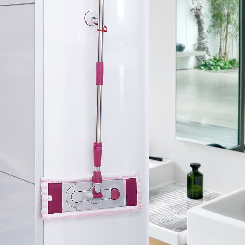 In the morning sucker multifunction mop mop rack shelf broom mop hanging rack bathroom toilet bathroom wall hook hook mop