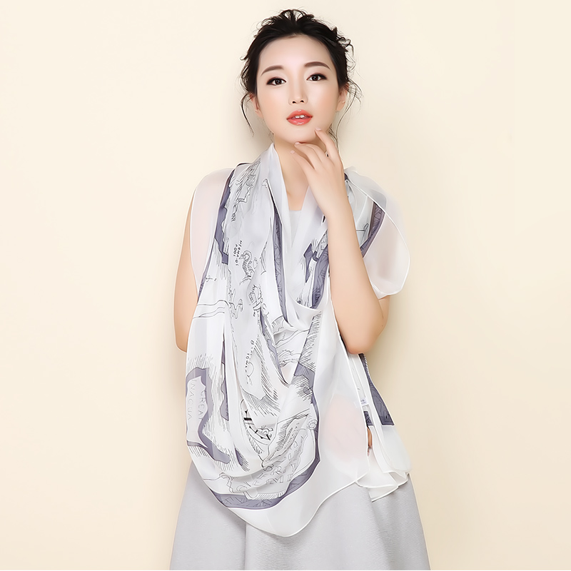 dc713aed0 Get Quotations · In the summer of hangzhou silk scarves silk scarves silk  scarves ms. dual air conditioning