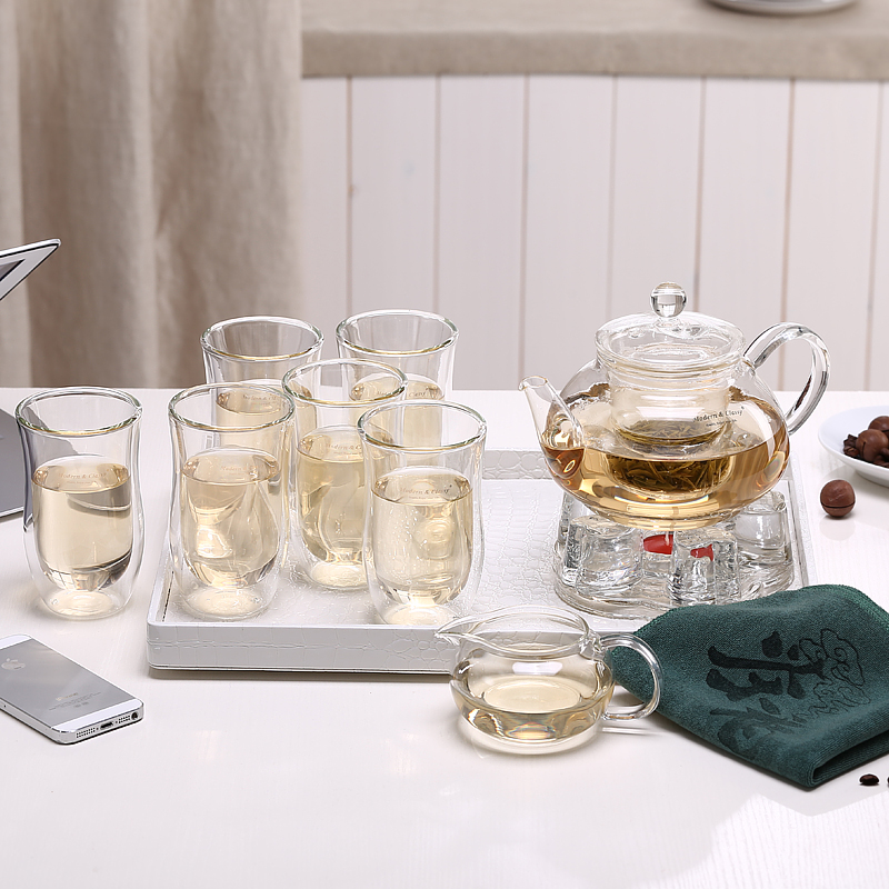 In the terai zi heat resistant glass tea sets entire kung fu tea filtration plants flower pot tea cup heat