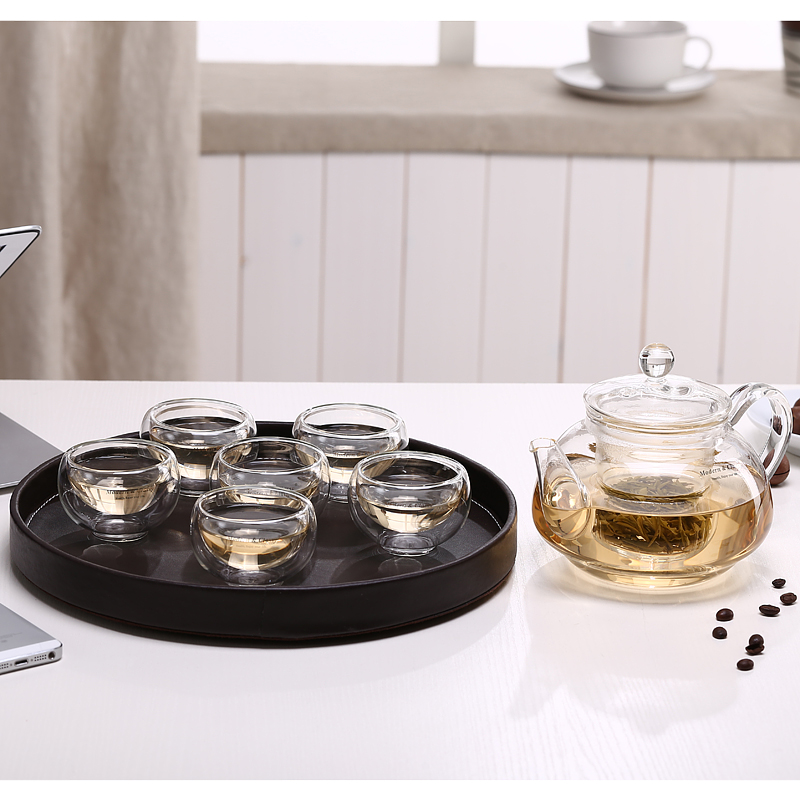 In the terai zi tea set kung fu tea cup teapot tea tray entire heat proof filter kit