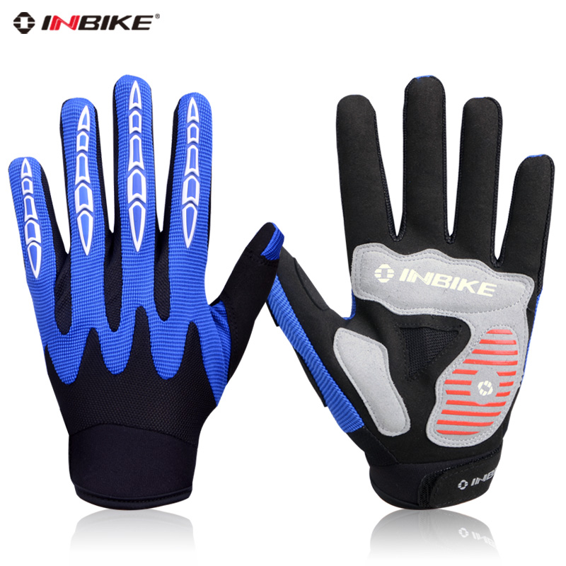 Inbike IF571 spring and autumn full finger cycling gloves long finger gloves bike mountain bike riding running equipment
