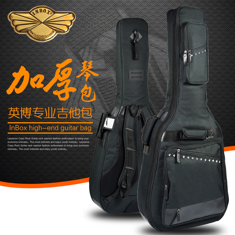 Inbox english stroke guitar package 38/39/40/41 inch shoulder bag 3CM thick sponge/classical folk guitar package