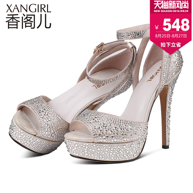 482fde4157a97 Get Quotations · Incense child 2016 spring and summer new fashion sparkling  diamond sexy fine with waterproof sandals fish