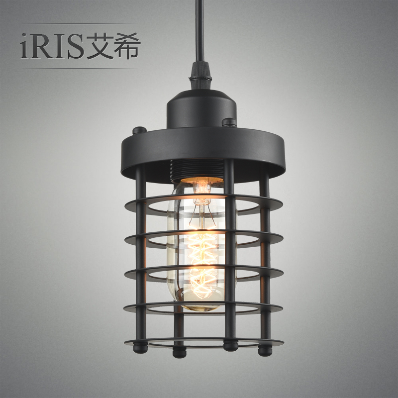 Industrial creative personality european retro modern minimalist restaurant lights chandelier wrought iron single head chandelier pendant lamp restaurant