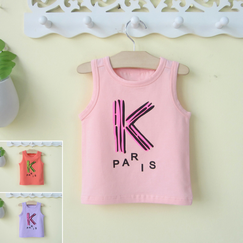 Infant male and female baby sleeveless vest summer vest bottoming underwear 0-1-2-3-year-old male children's clothing cotton summer