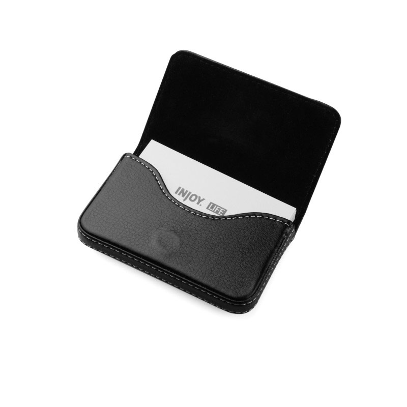 Injoylife simple leather business card holder card case men ms. portable business card holder card package large capacity thin