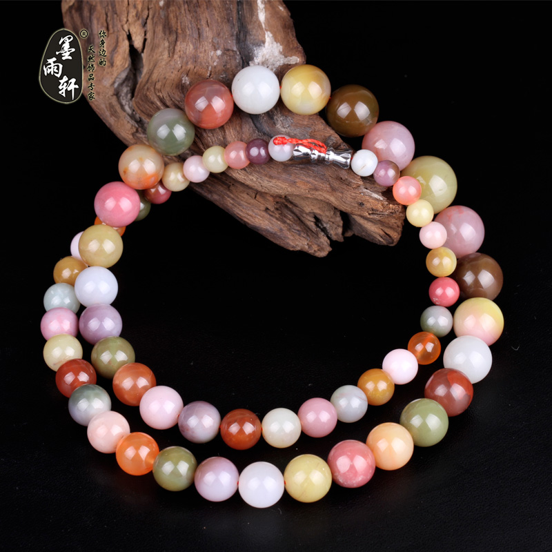 Ink yu xuan natural yanyuan material sichuan liangshan south onyx bead necklace 6-11mm 13mm tower necklace