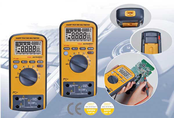 Intelligent digital multimeter/safety table VA42 dual display digital display/article simulation show/usb interface