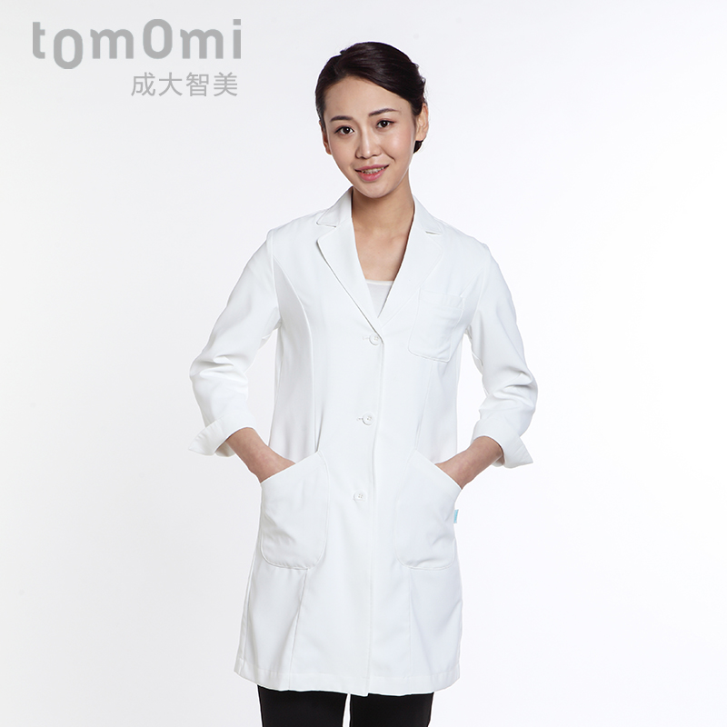 Into dazhi us 2016 autumn new japanese white doctor dr. bai dagua clothing sleeve dress female