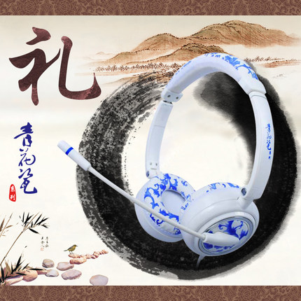 Invons ywz-state 3 desktop computer voice ear foldable headset gaming headset microphone with wheat