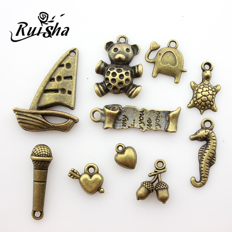 Iressa diy handmade jewelry making materials accessories bronze vintage collection of small ornaments pendants