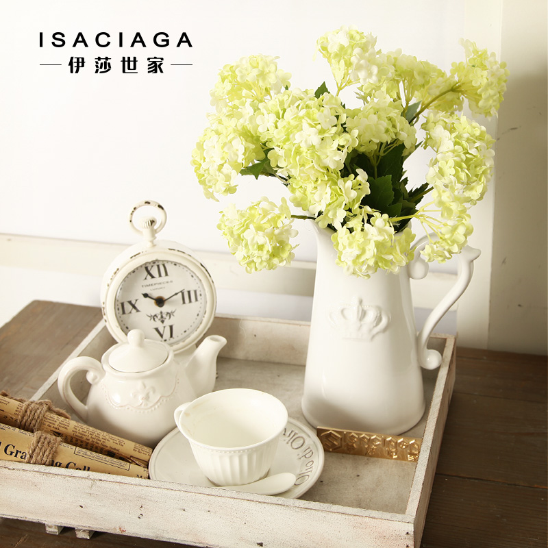 Isa family american pastoral nine hydrangea flowers artificial flowers artificial flowers silk flower floral suit