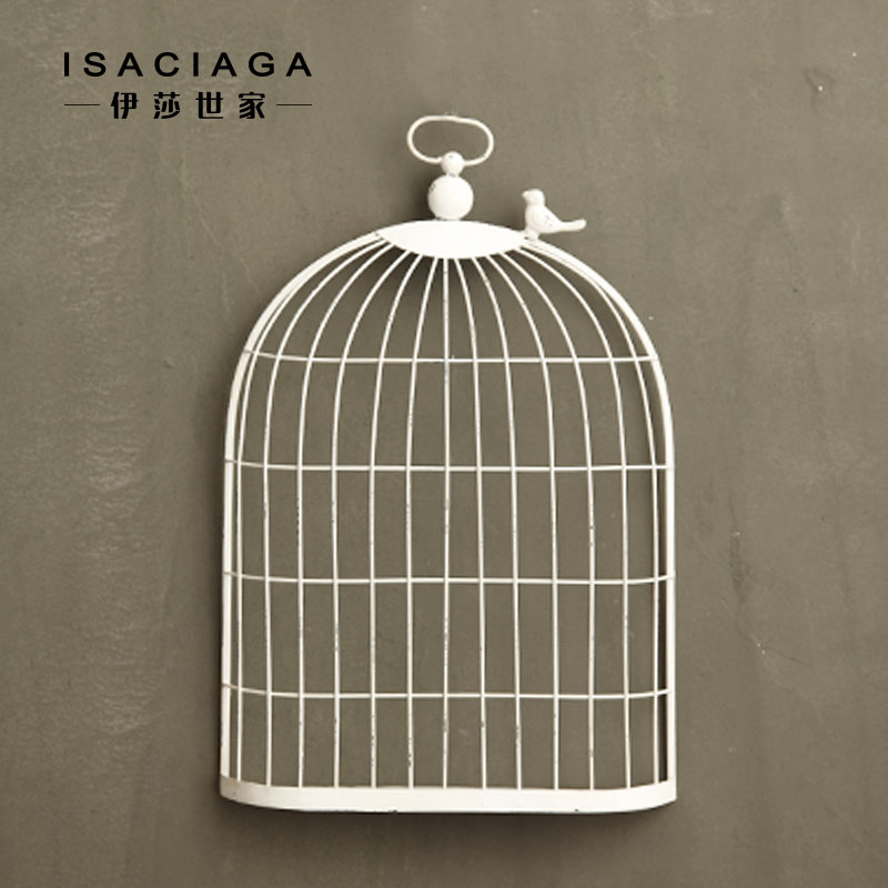 Isa family/french craft ornaments/american country vintage wrought iron wall hangings american hutts birdcage wall