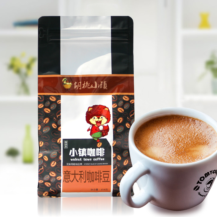 Italian coffee beans coffee freshly ground coffee beans imported baked beans can now mill black coffee powder 454g