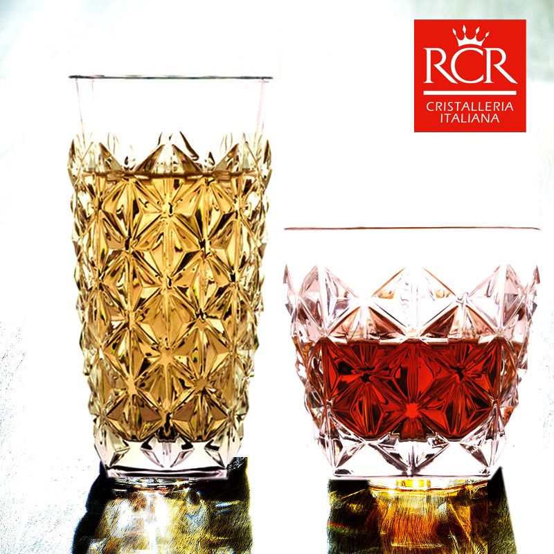 Italy imports rcr crystal glass of whiskey cup glass beer mug cup office cup ocean