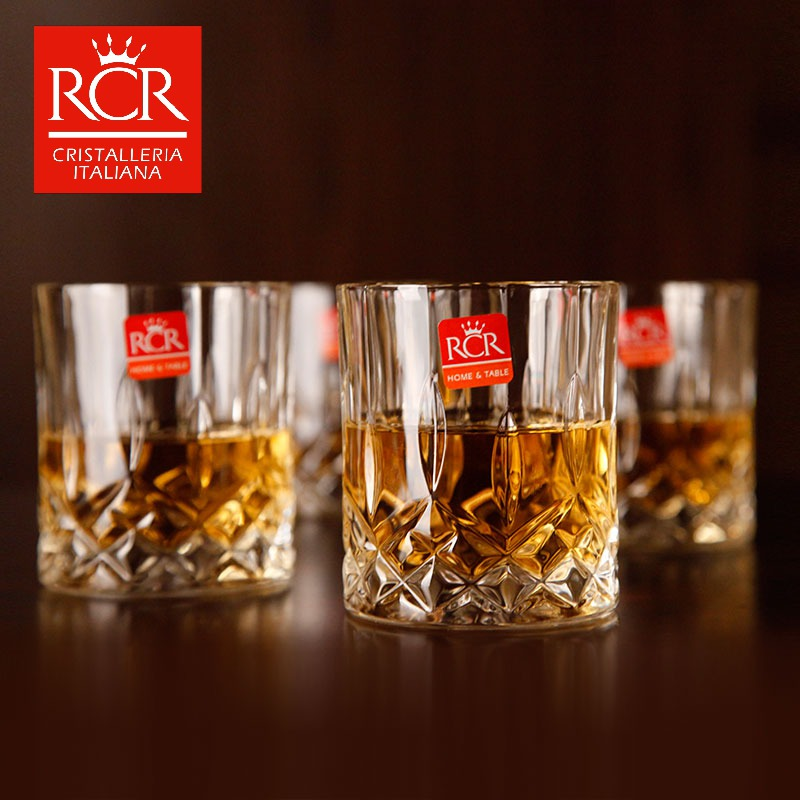 Italy imports rcr crystal whiskey glass cup/beer mug cup spirits cup/wine cup 6 installed