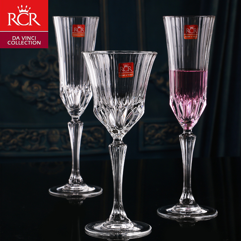 Italy imports rcr unleaded crystal continental champagne goblet of red wine wine cup creative wedding on the cup