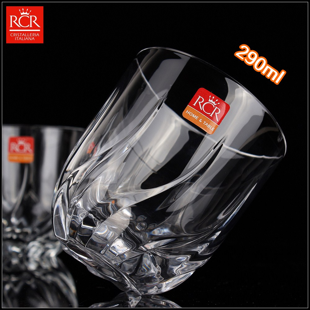 Italy imports rcr unleaded crystal whiskey glass transparent cup carved wine chivas cup carved cup