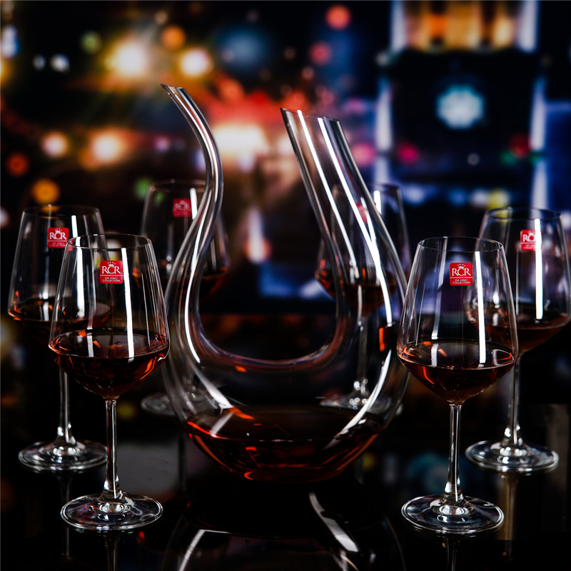 Italy imports rcr unleaded crystal wine glass red wine goblets wine glasses wine kits swan decanter