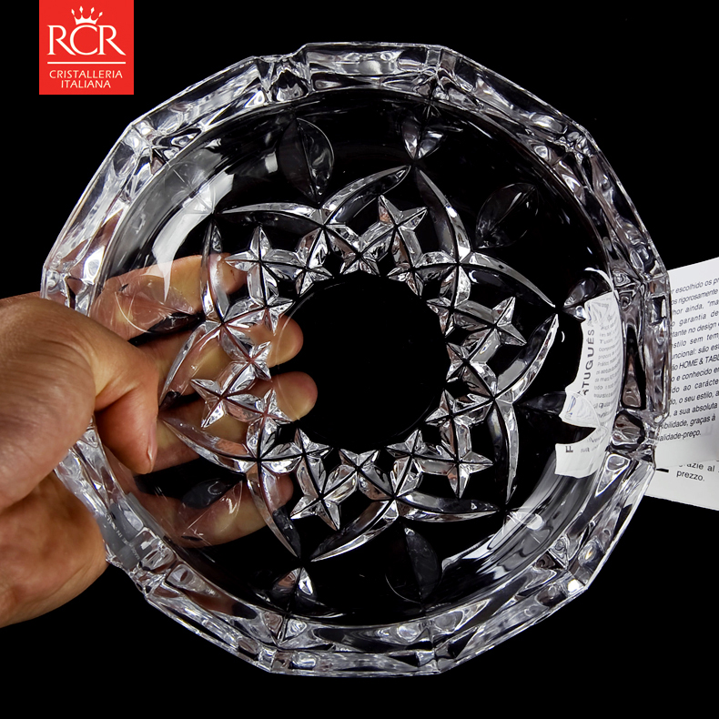 Italy rcr crown imported unleaded crystal ashtray ashtray ashtray fashion home home furnishings imported