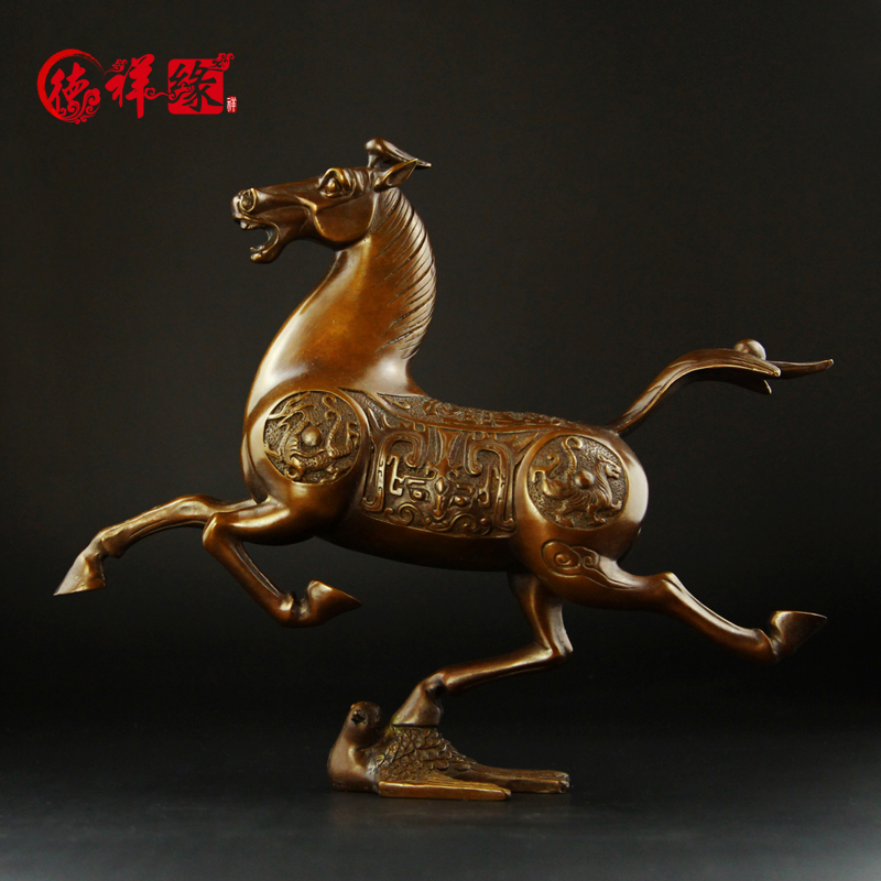 Itc edge copper horse ornaments horse riding chebi arts and crafts ornaments home decor furnishings living room office workers
