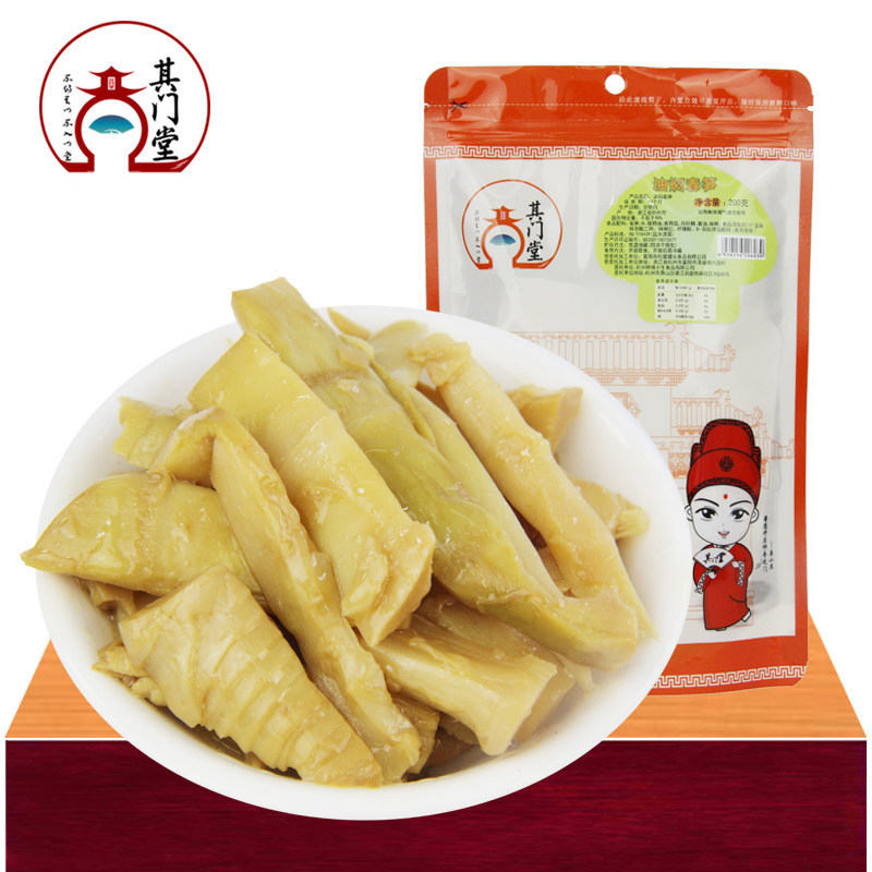{Its doors church} hangzhou jiangnan features braised bamboo shoots wild bamboo shoots open bags of instant casual dining 200g