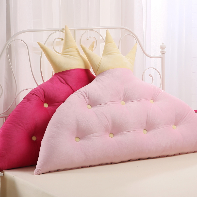 Ivy poetry crystal velvet crown cute male korean version of big bed pillow cushion large cushions headboard backrest