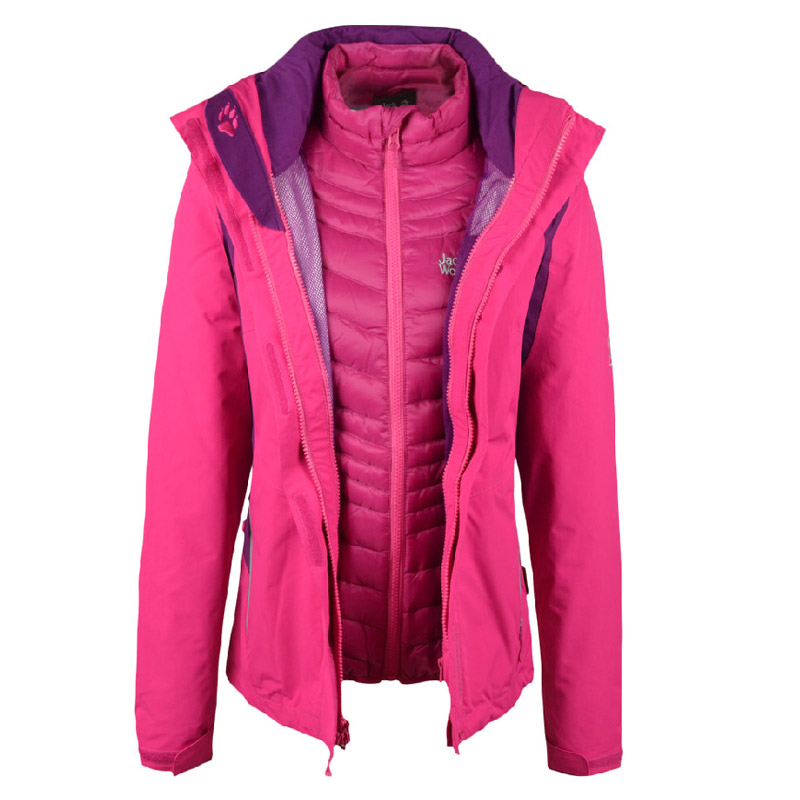 Jack wolfskin/dewclaws autumn and winter female models down bile waterproof and breathable triple jackets 5004941