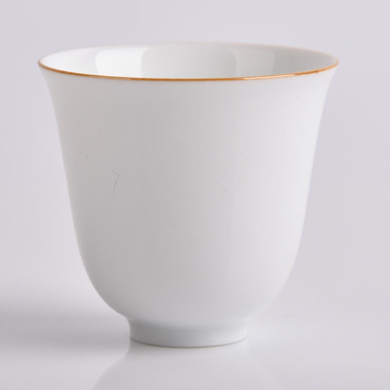 Jade spring hill sweet white glaze handmade goods cup jingdezhen ceramic tea kung fu master a single cup of tea cup eggshell