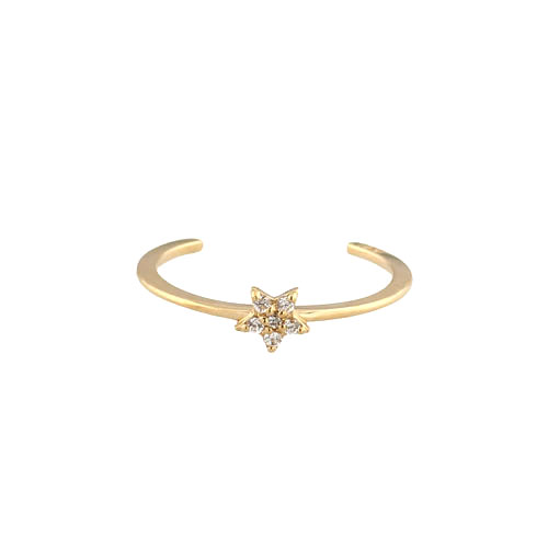 Jael korean k gold pentagram ring joint ring opening nvjie MT-245