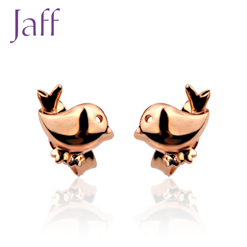 Jaff series katsuo jewelry earrings k gold earrings female models earrings bird national mail