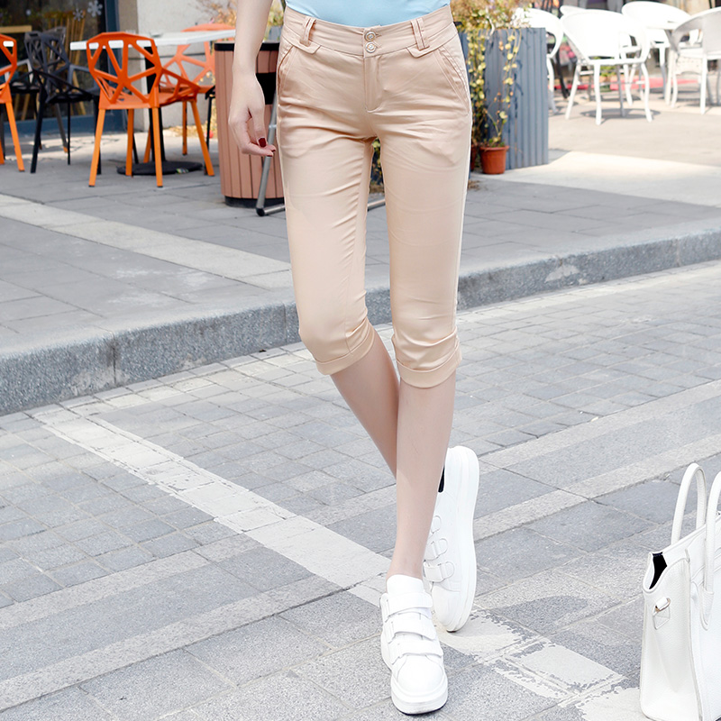 Jane duo 2016 summer new women simple wild casual pants casual pants korean version of the commuter C42105