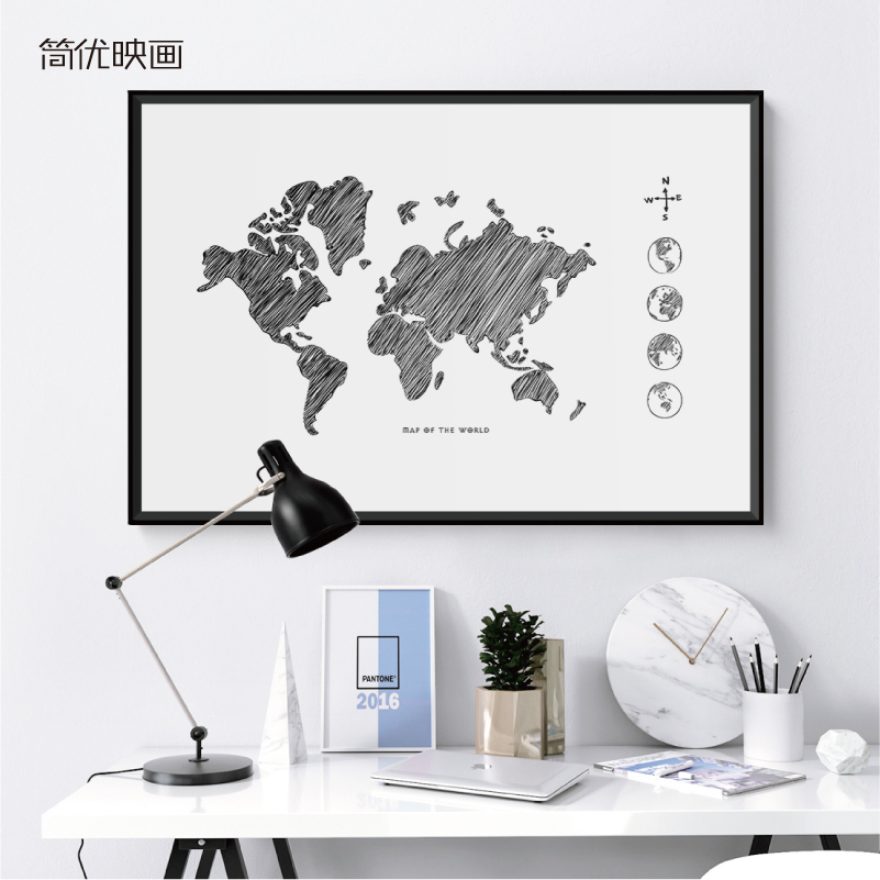 China decorative world map china decorative world map shopping get quotations jane excellent pictures painted the world map decorative painting backdrop mural paintings in black and white gumiabroncs Images