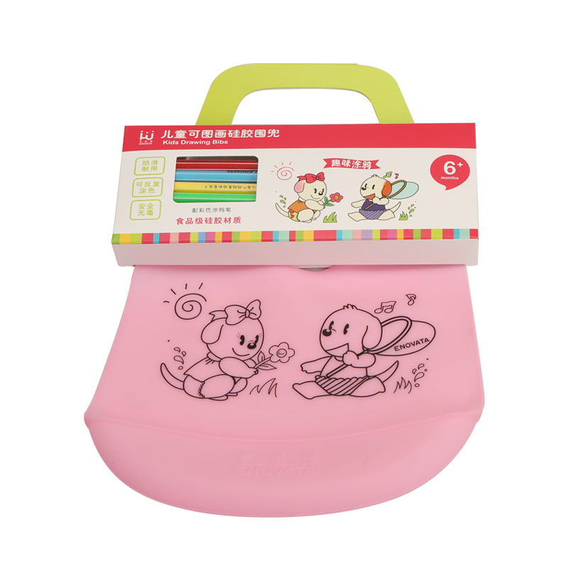 Japan dimensional cartoon bibs waterproof pocket meals for children baby bibs rice pocket soft bib pocket silicone baby bibs around the mouth