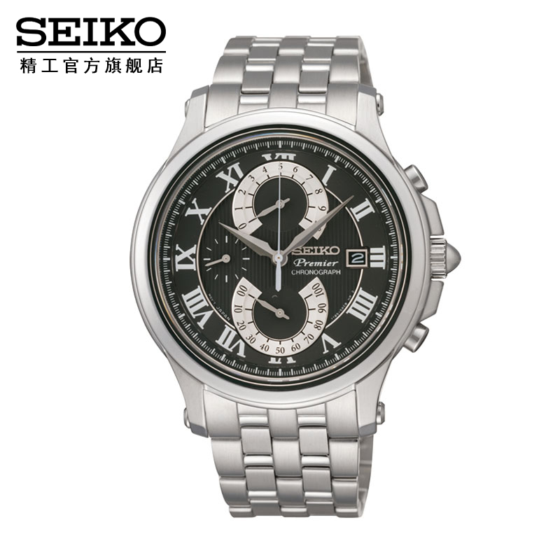 Japan imported seiko seikopremier series flying back display chronograph men's watch SPC067J1