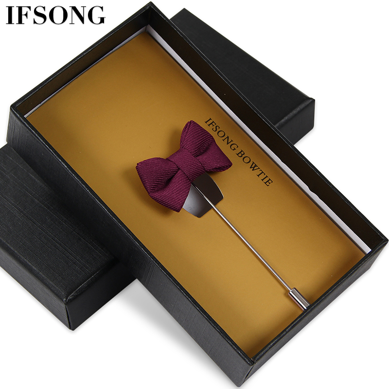 Japanese and korean fashion collar flower brooch korean men british fit'suit accessorise moderator suit chest flower simple mini bow