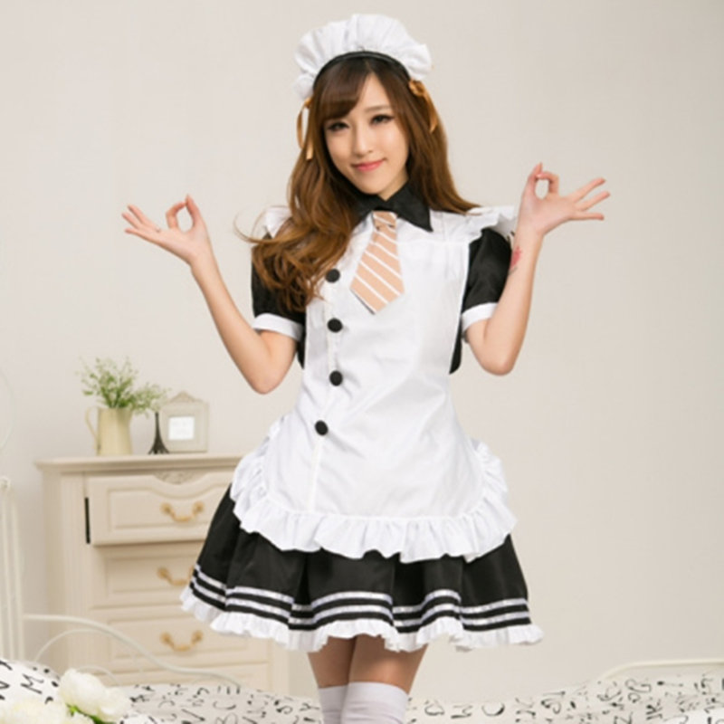 Anese Maid Outfit With Short Sleeves Black And White Service Cos Clothing Cospl Ay In Price On Alibaba
