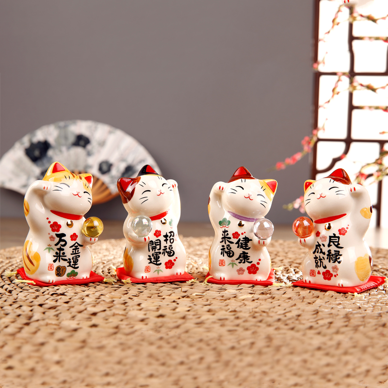 Buy Japanese Pharmacist Kiln Hand Painted Lucky Cat Ceramic Ornaments Opening Gifts To Send A Friend Birthday Wedding Gift In Cheap Price On Alibaba