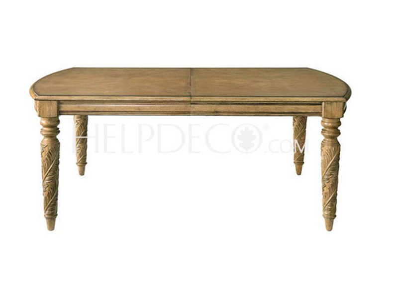 Get Quotations · Jasmine Garden · Four Legs Warm Rustic Casual Dining Table  Solid Wood Dining Table Long