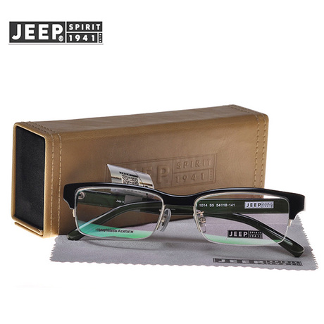 Jeep jeep counter genuine men titanium half frame glasses frame glasses frames myopia frame glasses frame T8145