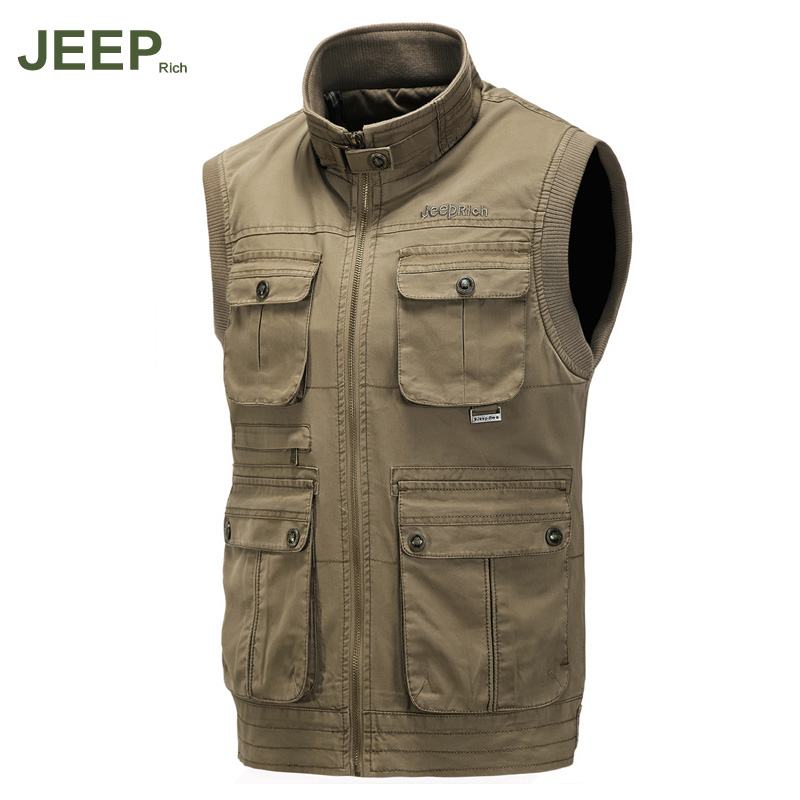 Jeep rich spring and big yards jeep photography vest fishing vest men's waistcoat pocket more of military vest