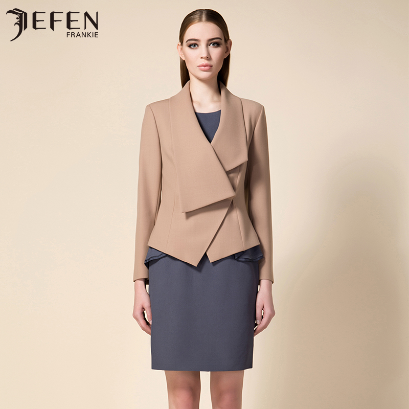 Jefen giffen italian stretch wool asymmetrical lapel new suit western suit