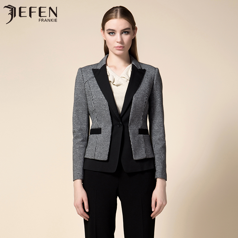 Jefen giffen italian wool stretch knit fabric fight new suit suit
