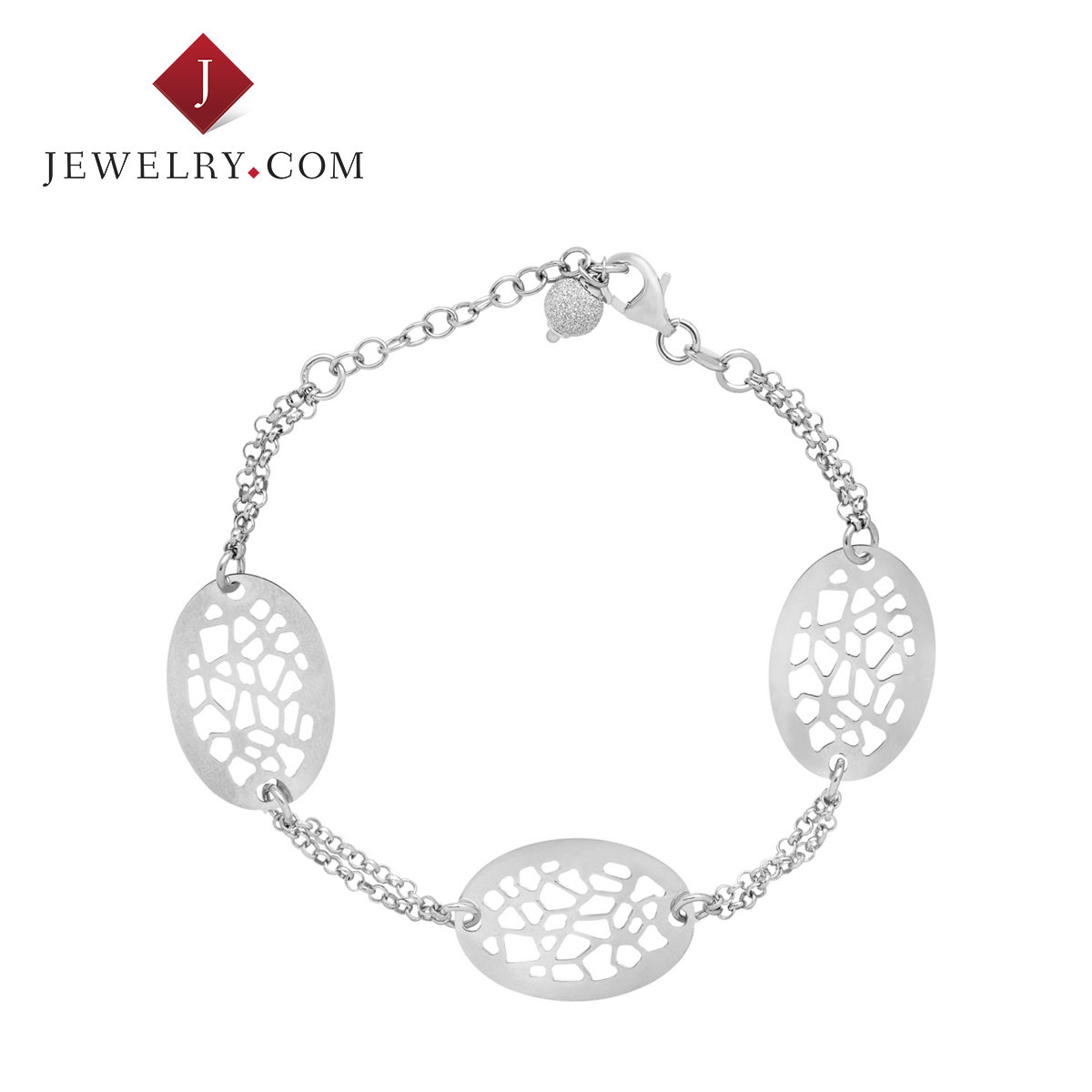 Jewelry.com official 925 silver oval bracelet new female models fashion charm wild stenciling
