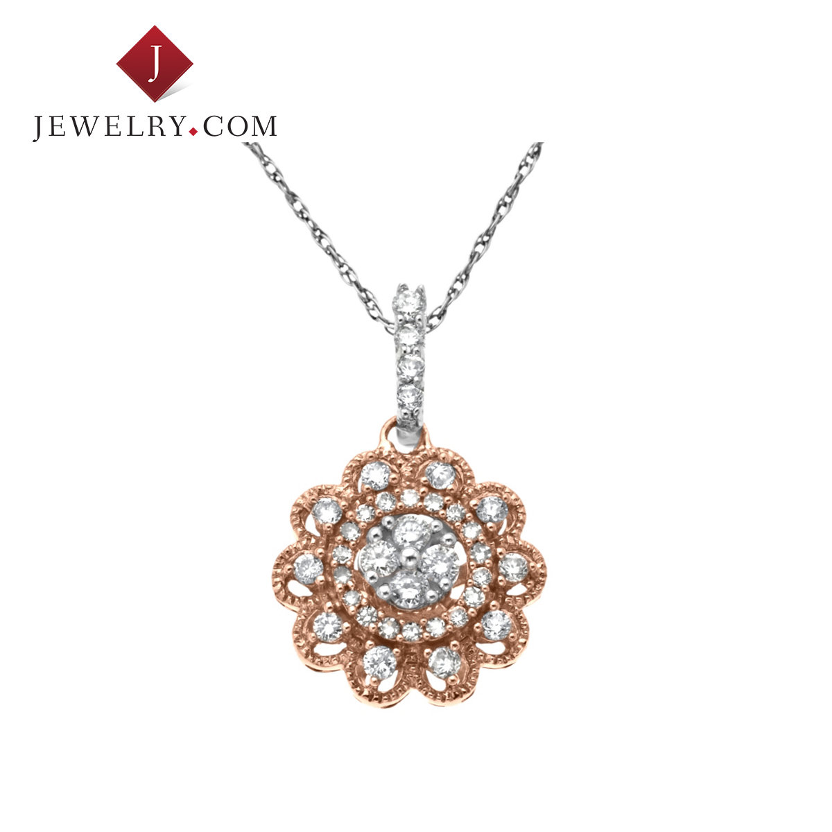 Jewelry.com official was 0.15mpa. 33ct k gold color diamond flower pendant female models refined aesthetic elegant jewelry