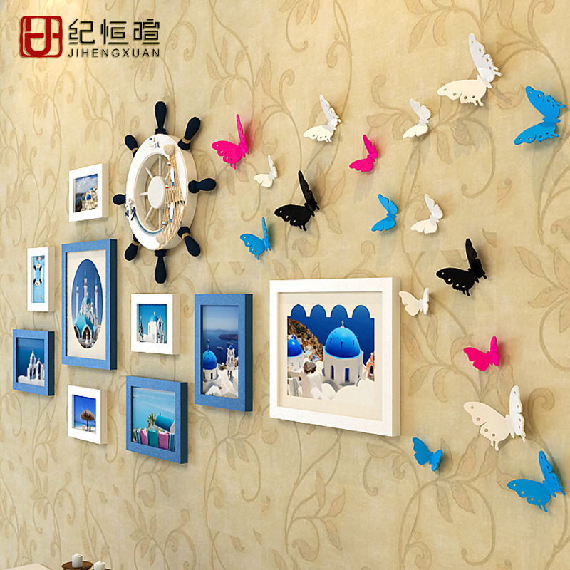 Ji hengxuan minimalist modern wood frame wall creative 5 7 10 10-inch photo frame photo frame combination photo frame